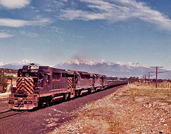 Rio Grande # 148 passing through Cleora, Colorado. (Wheatking2011) Tags: cleroa colorado stockyard for rio grande railroad two miles east salida limestone loads cfi steel pueblo