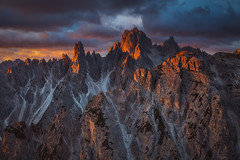 Peaks in fire (kani polat) Tags: italy dolomites dolomiti lavaredo cadini misurina trecime unesco sunrise