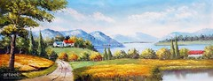 Countryside Summer Day, Art Painting / Oil Painting For Sale - Arteet™ (arteetgallery) Tags: arteet oil paintings canvas art artwork fine arts landscape sky clouds summer grass scenery park water meadow field season trees outdoors lake cloud travel sunny outdoor environment mountains natural scene spring autumn countryside horizon rural scenic november tourism ecology vacation sun country day hill plant rock yellow tranquil leaves reflection land calm landscapes impressionism fields cyan paint