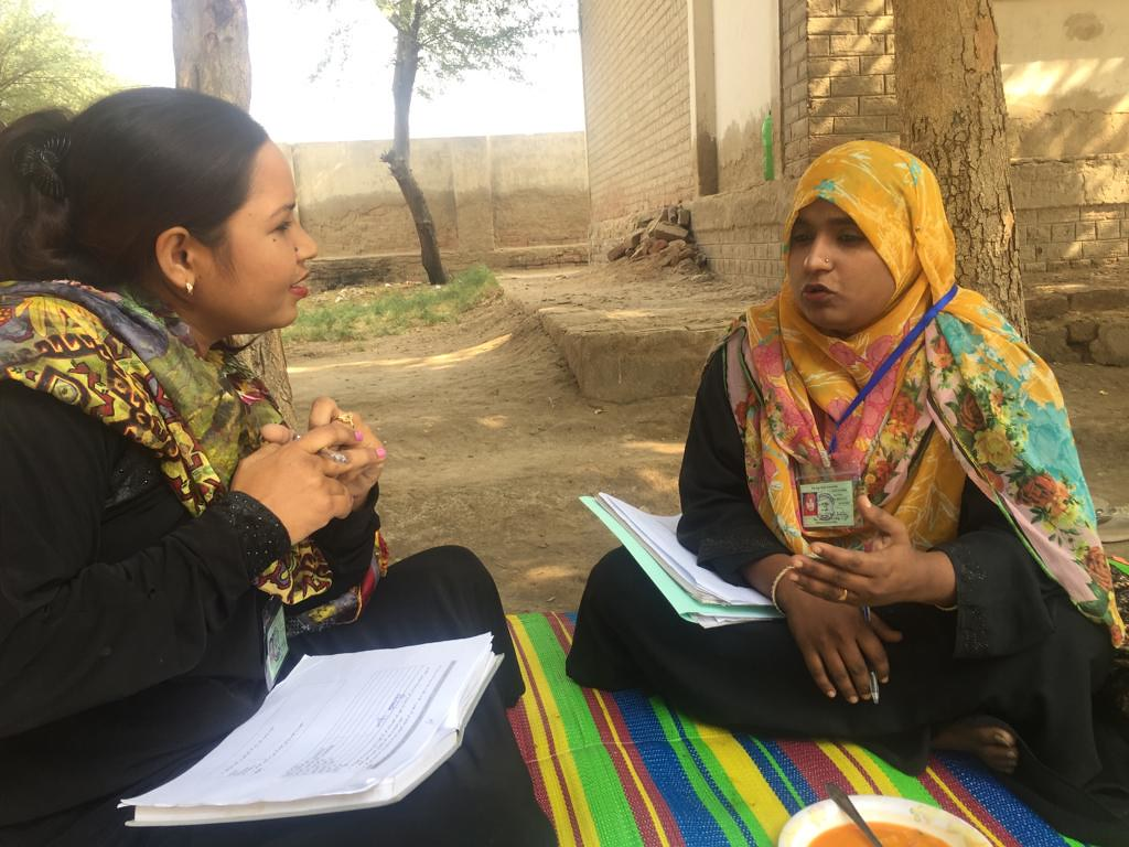 Master trainers observing and providing certification at a school in Khai Memon