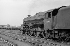 45080 in the yards at Hunslet (Garter Blue) Tags: steam railway br lms leeds hunslet 35mm film freight goods marshalling yard
