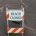 Road closed during hurricane Lane Big island, Hawaii