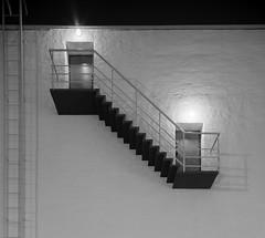 confluence (Antti Tassberg) Tags: 24mmts arkkitehtuuri portaat ovi bw yö kaupunki lasipalatsi suomi helsinki 24mm architecture blackandwhite city cityscape dark door finland lens lowlight monochrome night nightscape prime rappuset scandinavia staircase stairway stars tiltshift urban uusimaa fi