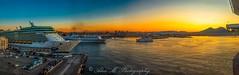 Dawn at the Bay of Naples (The Happy Traveller) Tags: napoli campania italy it sunrisesunset sunrise dawn vesuvius
