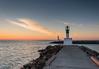 Port de Carnon au lever du soleil