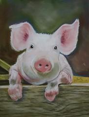 **cochon pastel (Gé DEVEAU) Tags: pastel diy draw dessin cochon