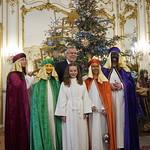 Sternsinger/innen der Pfarre Brederis (Diözese Feldkirch) bei Bundespräsident Van der Bellen