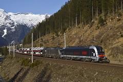 1216 025 + 1116 182, GAG 47871. Mallnitz (M. Kolenig) Tags: 1216 1116 tauernbahn berg baum schnee