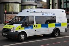 BU12 AOP (JKEmergencyPics) Tags: bu12aop met emergency mps ford transit bu12 aop police metropolitan london response commercial vehicle unit cvu lambeth embankment