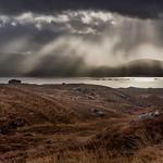 A stormy Loch Kishorn from Bealach na Ba road.