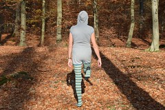 Autumn - jumpsuit and pantyhose (wetmuddy) Tags: outdoor fun forest autumn herbst wald unitard pantyhose lycra spandex medias strumpfhose tights legs leggings jumpsuit onepiece onesie