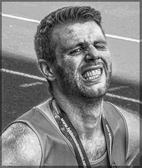 The Will Of This Heart 30 (lightandform) Tags: men masculinity rough rugged strong brave hard determined black white monochrome powerfull runners bw alpha race compete man energy challenge portrait tension face close hero orgasm