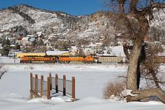 BNSF 9266 Palmer Lake 13 Jan 19 (AK Ween) Tags: bnsf bnsf9266 emd sd70ace palmerlake colorado jointline rampartrange train railroad palmerdivide