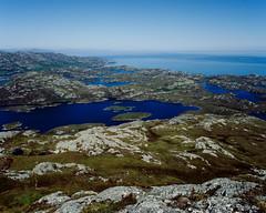 Land of Water (Ed Fulton) Tags: 100sw 6mf 6x6 analogue eabhal eaval ektachrome film mamiya mediumformat mittelformat northuist scotland uk uibhistatuath locheport unitedkingdom gb