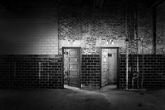 Not An Exit (shutterclick3x) Tags: abandoned ruins u urbandecay urbanruins blackandwhite bw doors