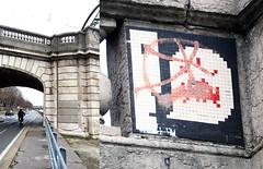 Space invader [Paris 16e] (biphop) Tags: europe france paris streetart space invader spaceinvader mur wall installation mosaic mosaique 75016 pa478