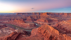 Sunrise over the Canyonlads (Jaideep Mann) Tags: sunrise sun rise canyonlands canyon lands utah colorado river sky colors snow water navajo sandstone sand stone pink red moab nps dead horse point deadhorse state park desert
