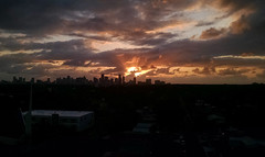 Dawn Breaks (MerperC) Tags: miami fl florida skyline buildings sunrise clouds sky unitedstates usa us