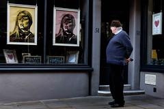 Loves Bardot (Silver Machine) Tags: salisbury wiltshire streetphotography street candid man standing looking shopwindow window hairdresser bridgitbardot terryoneill fujifilm fujifilmxt10 fujinonxf35mmf2rwr the legend thelegendoffrenchieking