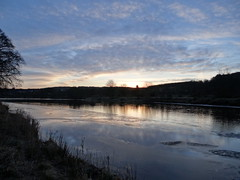 Icy Morning ( RGU ) (Ian Robin Jackson) Tags: landscape blue riverdee scotland trees ice morning 2019 february orange sky water