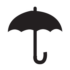 Umbrella icon (www.icon0.com) Tags: umbrella icon vector water protection weather rain graphic open handle black fashion resistant meteorology rainy design style background comfort