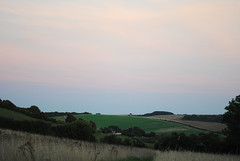 Hazy pink sky (dark_dave25) Tags: south downs uk england camping september 2018 hot