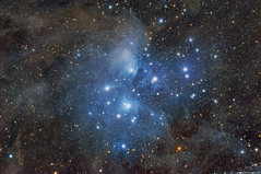 "Dusty and his 7 Sisters ""Pleiades M45"" (Terry Hancock www.downunderobservatory.com) Tags: qhy qhy367c sky space astronomy astrophotography astroimaging cosmos"