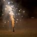 Silvester-Feuerwerk kurz vor dem Erlöschen