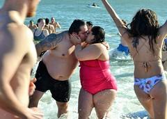 We Did It! (KaDeWeGirl) Tags: newyorkcity brooklyn coneyisland polar bear plunge winter newyearsday beach ocean cold kiss