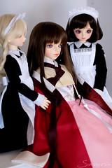 a lady and her maids (sasurin) Tags: volks superdollfie bjd sdm sdmidi msd tenshi mamu nana sweetdreams swd sdg sd10 sd10g seirei yugiri