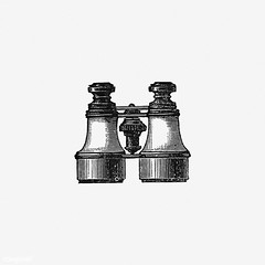 Vintage binoculars illustration (Free Public Domain Illustrations by rawpixel) Tags: british antique art binoculars black blackandwhite cc0 creativecommons0 decoration design designresource drawing engraving etching europe european explore fieldglasses handdrawn icon illustrated illustration ink instrument lens magnifier magnifying name navigation nostalgic object observation observe oldfashioned optical opticalinstrument ornament pen psd publicdomain retro sight sketch spectator style symbol tattoo tool twotelescopes view vintage vision watcher