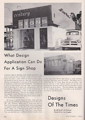 Designs of the Times Column - Lee Klay - October 1956 (hmdavid) Tags: signsofthetimes magazine october 1956 designsofthetimes column leeklay heath centurysigns encino california