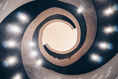 The Spiral (Bunaro) Tags: helsinki city center suomi finland architecture visitfinland myhelsinki abstract looking staring above ceiling roof central library oodi stairs lamps spiral canon m50 1122mm