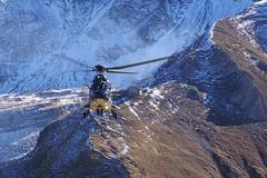 waving goodbye (Itzlä ° ~~~✈) Tags: axalp axalp2017 switzerland oberland sky pentaxk1 flightdemonstration swissairforce aviation things swissarmy itzlä 2017 cougar superpuma helicopter