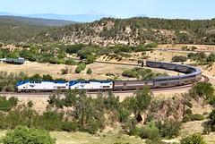 Number 3 on the Wootton Curve (knutsonrick) Tags: ratonpass raton colorado wootton dickwootton woottonranch amtrak southwestchief train longdistanceamtraktrain