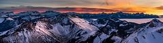 Panorama hivernal sur les Alpes et Préalpes (Switzerland) (christian.rey) Tags: coucherdesoleil panorama alpes préalpes sunset hiver winter landscape sony alpha a7r2 a7rii 70200 assemblage montagnes vaudoises swiss suisse mountains gruyère fribourgoises