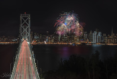 Happy new year 2019! (wandering indian) Tags: newyear 2019 cityscape architechture bridge san francisco california fireworks kedar datta nikon long exposure city lights cityporn buildings