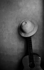 I'd like a song.. / Csak egy dalt szeretnék.. (Ibolya Mester) Tags: smileonsaturday music musicinbw guitar hat