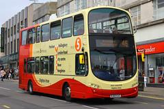 BJ63 UJC, Churchill Square, Brighton, August 6th 2015 (Southsea_Matt) Tags: bj63ujc 475 route46 wright eclipse gemini volvo b9tl brightonhove goahead churchillsquare brighton sussex canon 60d 1850mm august 2015 summer bus omnibus vehicle transport roychuter