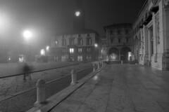 Xmas mood - Reggio Emilia -  December 2018 (cava961) Tags: xmas natale nebbia mist analogue analogico monocromo monochrome bianconero bw