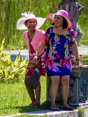 OM170866 Bali Water Palace (Dave Curtis) Tags: bali 2 ladies colourful people 2014 em5 may omd olympus