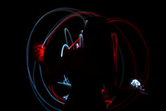 Light painting (Rand0mmehere) Tags: linnea albrechtsson rand0mmehere woman white wonderful red mysterious yin yang old people art artsy abstract shadow silhouette dark darkness dream girl human hand hands ljus light lights lowkey lightpainting low expression exposure long color contrast black body blackbackground night magic painting