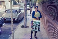 RioSlides0074 (The Digital Shoebox) Tags: 35mm dress rio riodejaneiro slide cars fashion girl nikon outside people shopping streetscene 1970s
