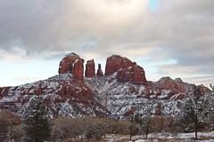 IMG_2813 (Karen Wilson Hagy) Tags: sedona redrocks oakcreekcanyon snow desert muledeer antlers clouds arizona