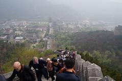 A Great Wall of People (Khao Soi Boy) Tags: greatwallofchina greatwall wall long tall mountain smog visibility juyongguan beijing china crowds climb sonynex5n 72hourvisafree
