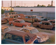 Austin Corvairs at Dusk (Rbardin) Tags: 4x5 portra