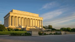 Let the Sun Shine On (dayman1776) Tags: sony a6000 beautiful washington dc lincoln memorial abraham classical neoclassical temple sunrise golden glow architecture monument capital capitol america usa american president wallpaper warm orange dawn blue warmth summer