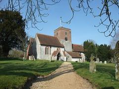St. Mary's Church, Upton Grey, Hampshire (Living in Dorset) Tags: church tower clock stmaryschurch uptongrey hampshire england uk gb