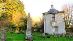 Autumnal Boneyard 02 (byronv2) Tags: scotland campsies campsiehills hills ruin graveyard cemetery boneyard history gothic campsieglen