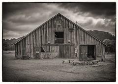 Old Barn B&W (CDay DaytimeStudios w /1 Million views) Tags: california cloudy coastline highway1 pacificcoast pacificcoasthighway pescaderoca